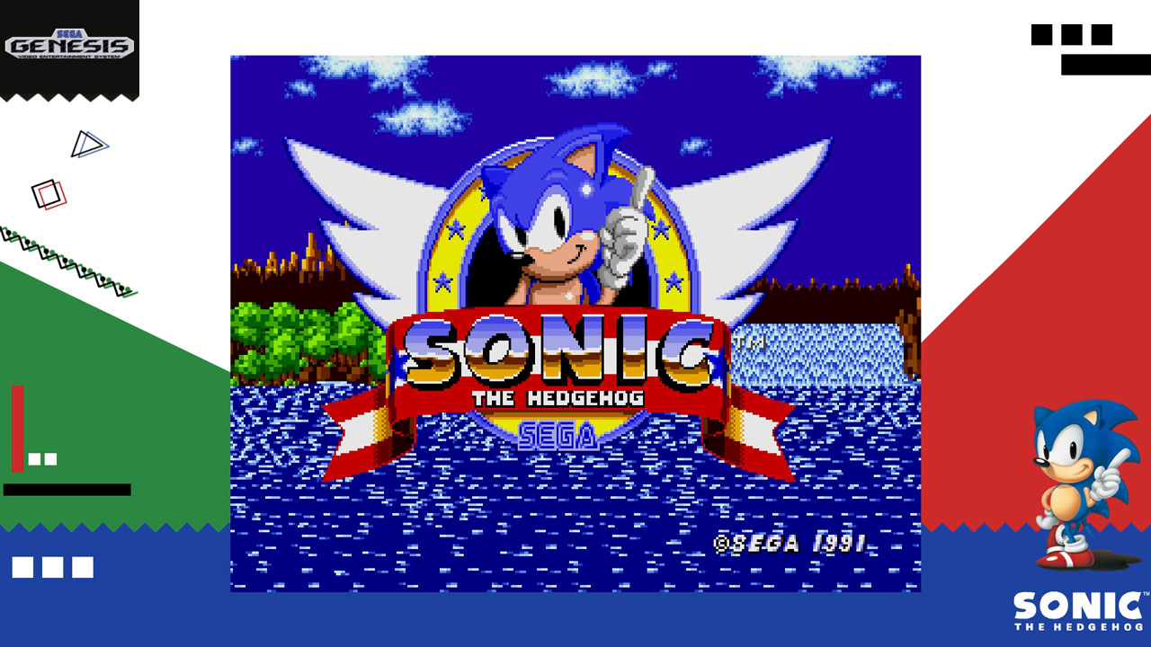 Sega Ages Sonic the Hedgehog Title Screen